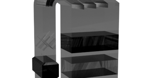 Géométrie de la SCR modélisée