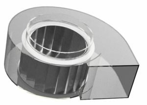 Géométrie du ventilateur étudié