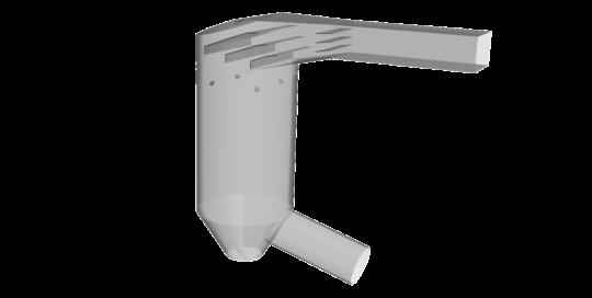 Géométrie de la tour de refroidissement modélisée