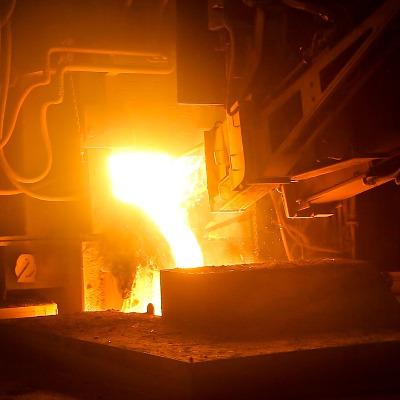Ecoulement d'acier - sidérurgie - CFD